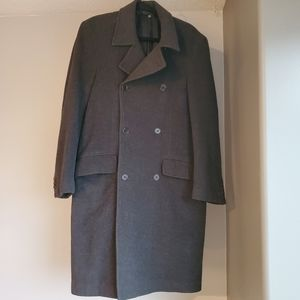 Zara Wool Blend Double Breasted Jacket Coat
